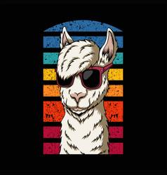 llama eyeglasses style vector image