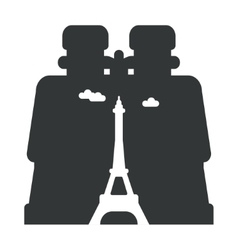looking through binoculars Paris vector image vector image