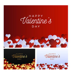 love banner set horizontal valentine day flyer or vector image