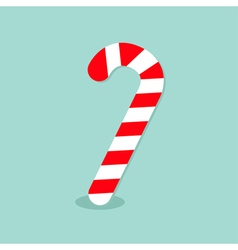 Merry Christmas Candy Cane Isolated Flat design vector image