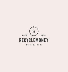 money cashflow recycle logo icon vector image