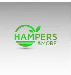 Natural logo design healthy organic template vector