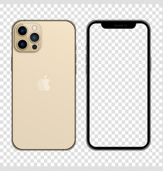Newly released iphone 13 pro max gold color vector