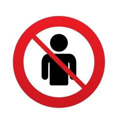 No User sign icon Person symbol vector