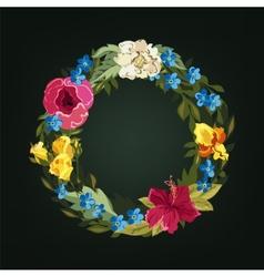 O letter Flower capital alphabet Colorful font vector