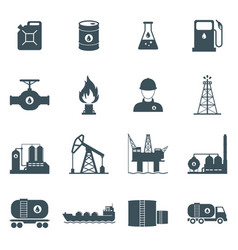 oil and gas icon set vector image