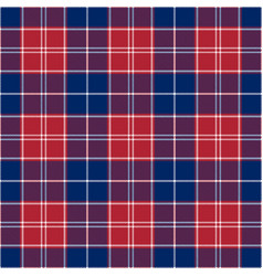 Patriotic tartan white blue red seamless vector