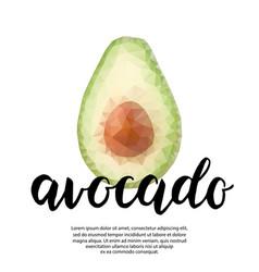Polygonal poster with avocado vector