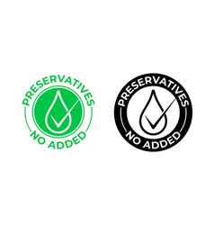 Preservatives no added icon free vector