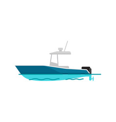 Pretty sea boat color template vector