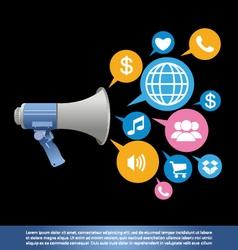 Public relations background vector
