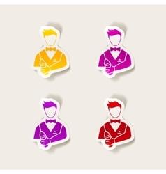 realistic design element bartender vector image