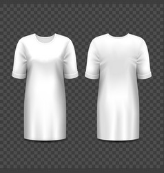 Realistic mockup women dress or gown shirt vector