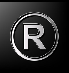 Registered trademark sign gray 3d printed vector
