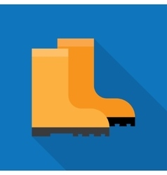 Rubber boots icon vector image