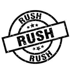 Rush round grunge black stamp vector