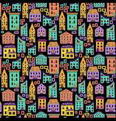 seamless house pattern new-02 vector image