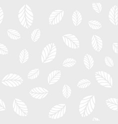 seamless pattern with mint leaves vector image