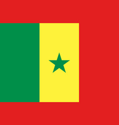 Senegal national flag and ensign vector