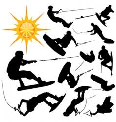 ski set vector image