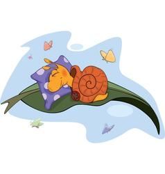 Sleeping snail vector