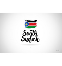 south sudan country flag concept with grunge vector image