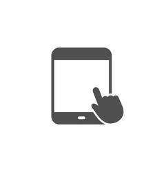 tablet pc icon mobile device sign vector image