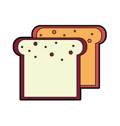 Tasty and fresh slice bread vector