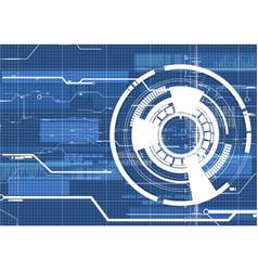 Technological abstract digital cyber light vector