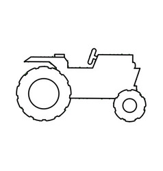 tractor farm vehicle vector image