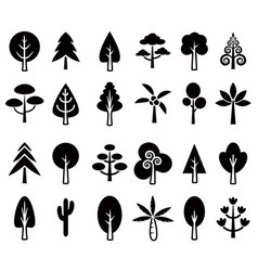 Tree icon set 1 vector