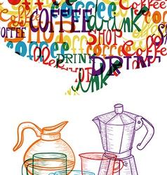 Trendy cute coffee concept vector image