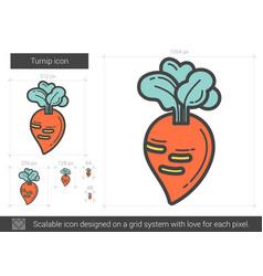 Turnip line icon vector
