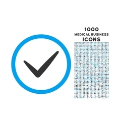 Valid Rounded Icon with 1000 Bonus Icons vector