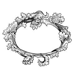 Vintage floral ornament vector