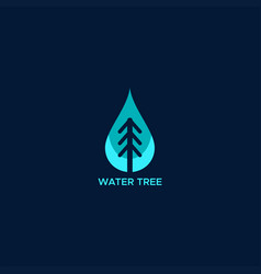 water tree logo vector image