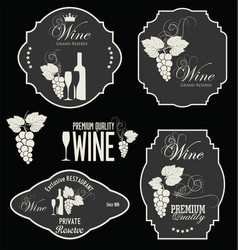 wine retro labels collection vector image