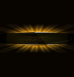 golden glitter on a flat surface vector image