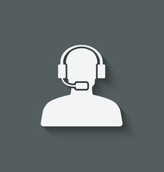 man call center support symbol vector image