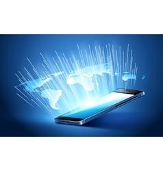 Modern mobile technology vector image vector image