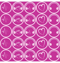 music theme pattern vector image vector image