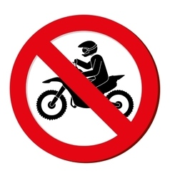 no motorcycle prohibition sign design vector image