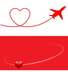 plane and heart vector image vector image