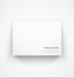 White horizontal paper template mock-up with drop vector image vector image