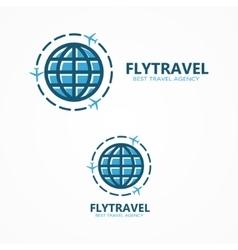 World travel logo vector image