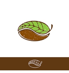 Green Coffee and Tea Logo vector image