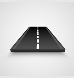isolated piece of road on white background vector image
