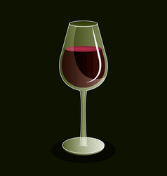 best wine cup icon vector image vector image