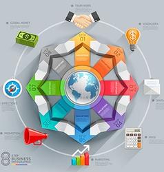 Business global arrow diagram vector image vector image