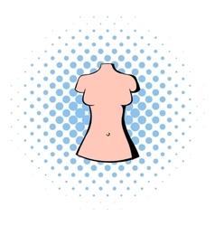 Dummy icon comics style vector image